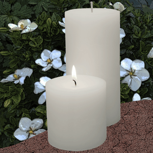 Double Fragrance Gardenia Flower Pillar Candles