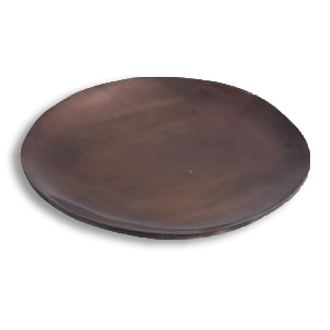 Copper Antique look Pillar plate 8 inch - Candle Factory Store