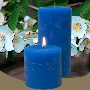 Scented Jasmine Flower Pillar Candles - Candle Factory Store