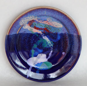 Handthrown 9 inch Ceramic plate, Large - Armadilla Wax Works Candle Factory Store