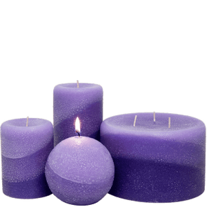 Scented Pillar Candles, Lavender - Armadilla Wax Works Candle Factory Store