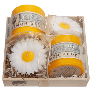 Lemon Drops and Daisies Gift Crate - Candle Factory Store