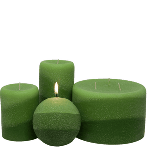 Scented Pillar Candle, Lemongrass - Armadilla Wax Works Candle Factory Store