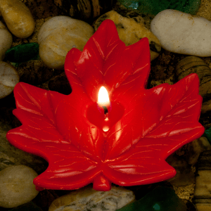 Maple Leaf Floating Candle