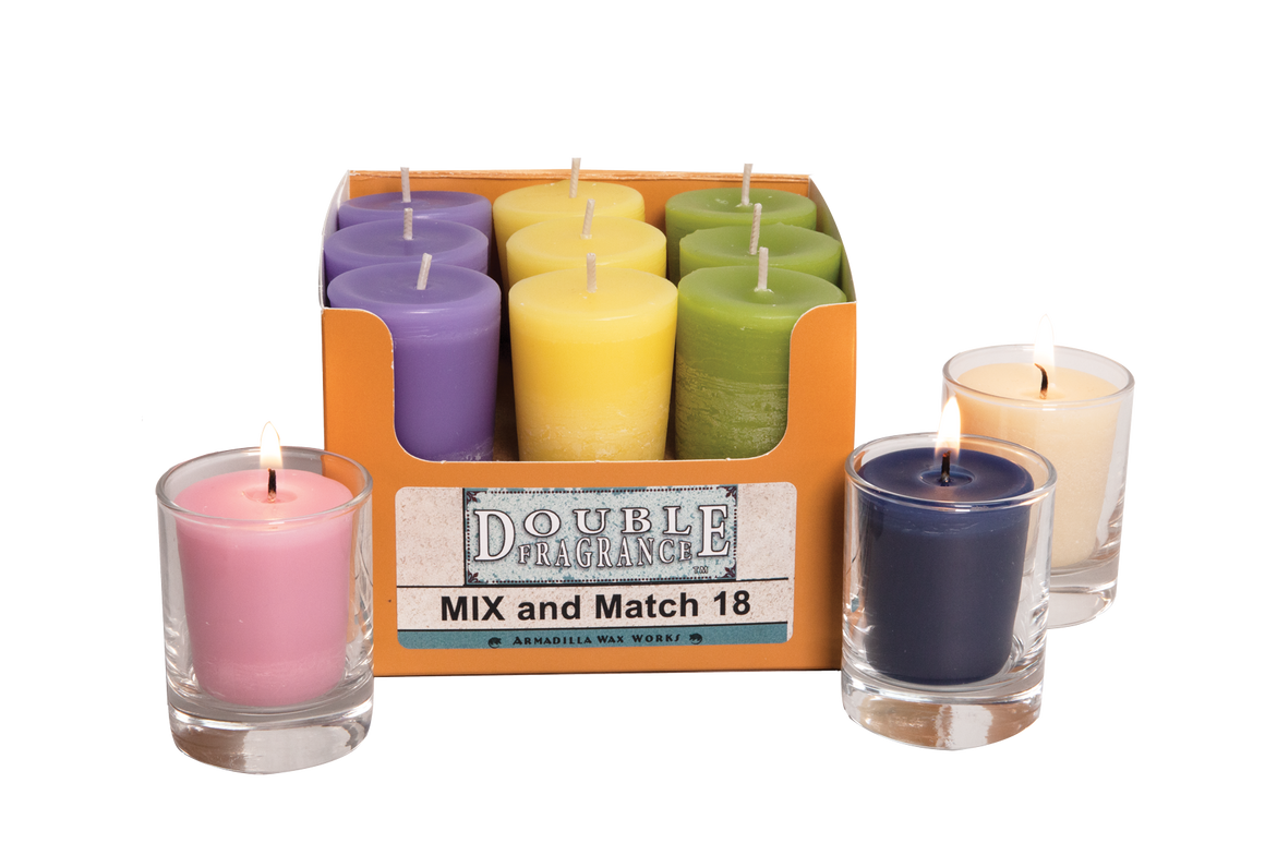 Mix 'N Match Votive Box 18 - Armadilla Wax Works Candle Factory Store