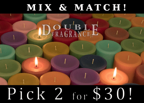Double Fragrance Mix 'N Match 3x6 Pillars Candles