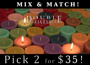 Double Fragrance Mix 'N Match 4x4 Pillars Candles - Armadilla Wax Works Candle Factory Store