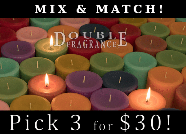 Double Fragrance Mix 'N Match 3x3 Pillar Candles