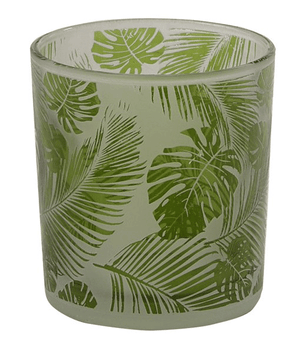 Tropical Leaf Glass votive holder - Candle Factory Store