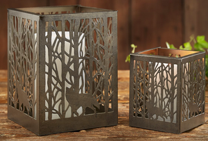 Birch Forest Pillar Holder - Candle Factory Store