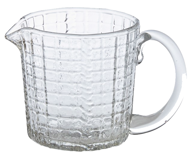 Small Glass pitcher votive holder, grid - Candle Factory Store