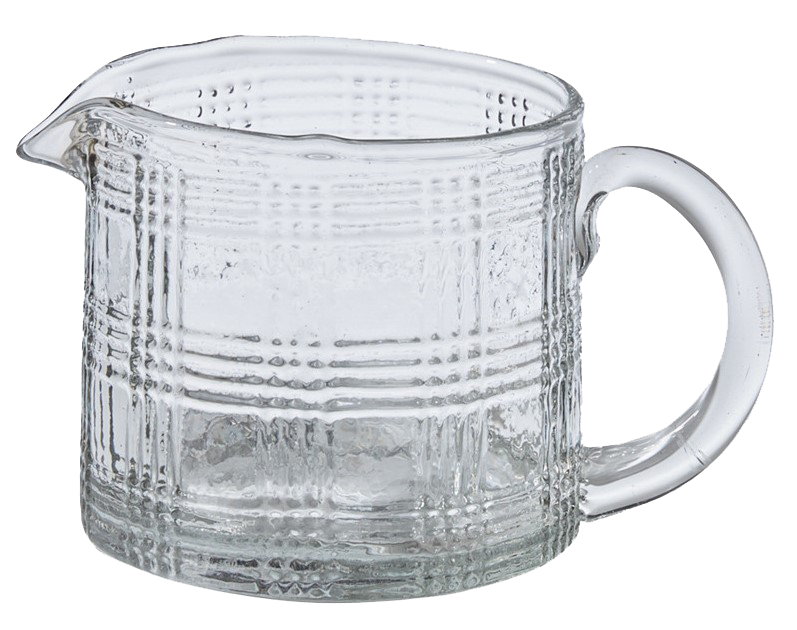 Small Glass pitcher votive holder, plaid - Candle Factory Store