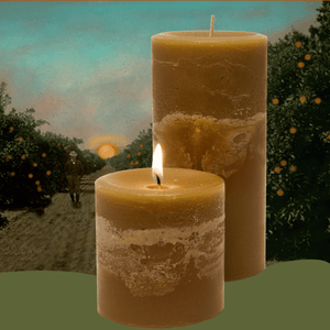 Scented Phoenix Morning Tea Pillar Candles - Candle Factory Store