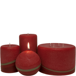 Scented Pillar Candles, Pomegranate Ginger - Candle Factory Store