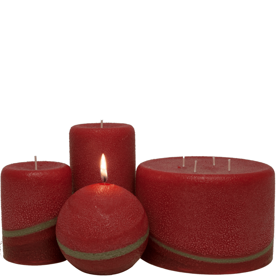 Scented Pillar Candles, Pomegranate Ginger - Armadilla Wax Works Candle Factory Store