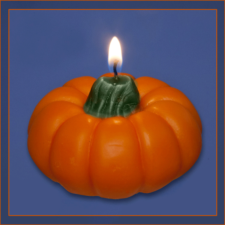 Floating: Pumpkin Floating 3 inch Candle - Candle Factory Store