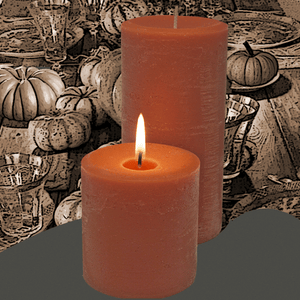 Pumpkin Spice scented pillar candles are just the right candle for fall are made in the USA.
