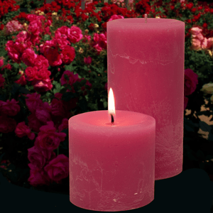 Scented Pillar Garden Rose Candles - Candle Factory Store