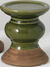 Ceramic two tone olive pillar holders - Candle Factory Store