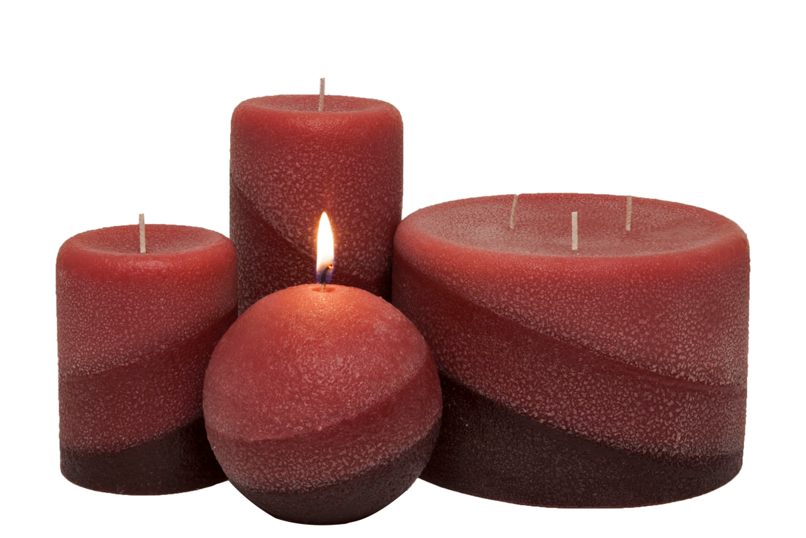 SHADES: SandaloRosa Pillar Candles