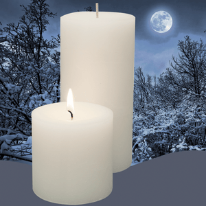 Double Fragrance Snowy Night Pillar Candles