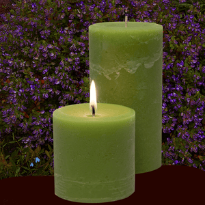 Scented Sweet Pea and Sage Pillar Candles - Candle Factory Store