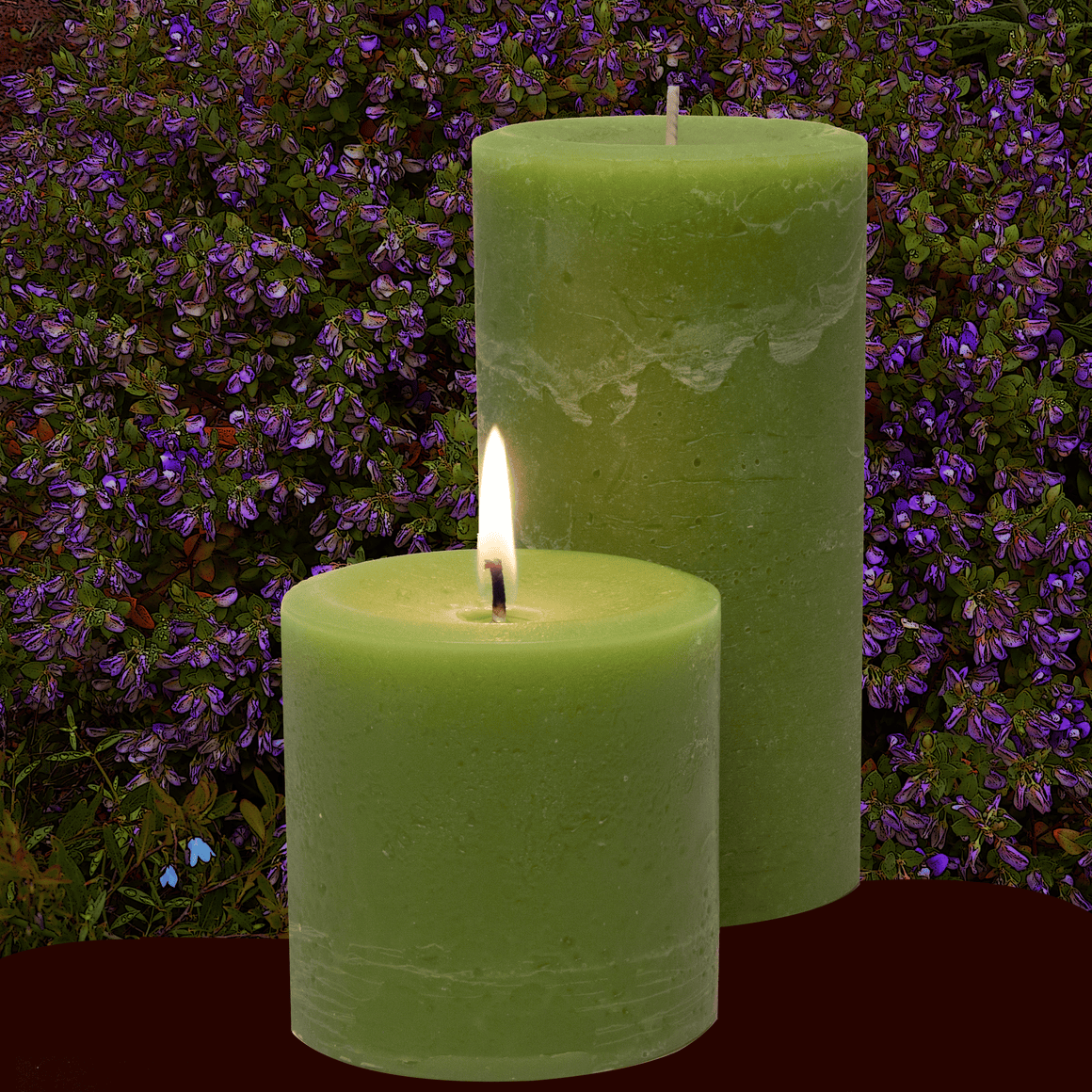 Double Fragrance Sweet Pea and Sage Pillar Candles