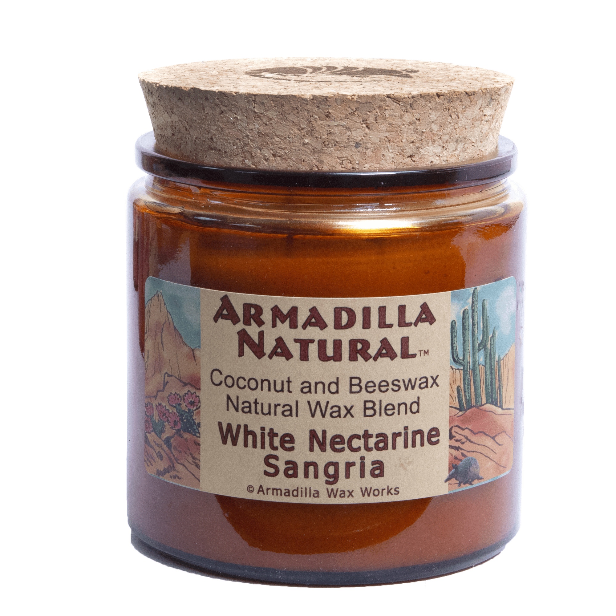 White Nectarine Sangria Coconut Beeswax - Candle Factory Store
