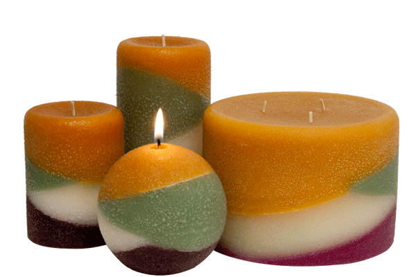 Scented pillar candles, Wine Country - Armadilla Wax Works Candle Factory Store