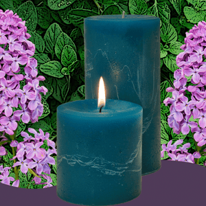 Double Fragrance Patchouli Lilac Pillar Candles