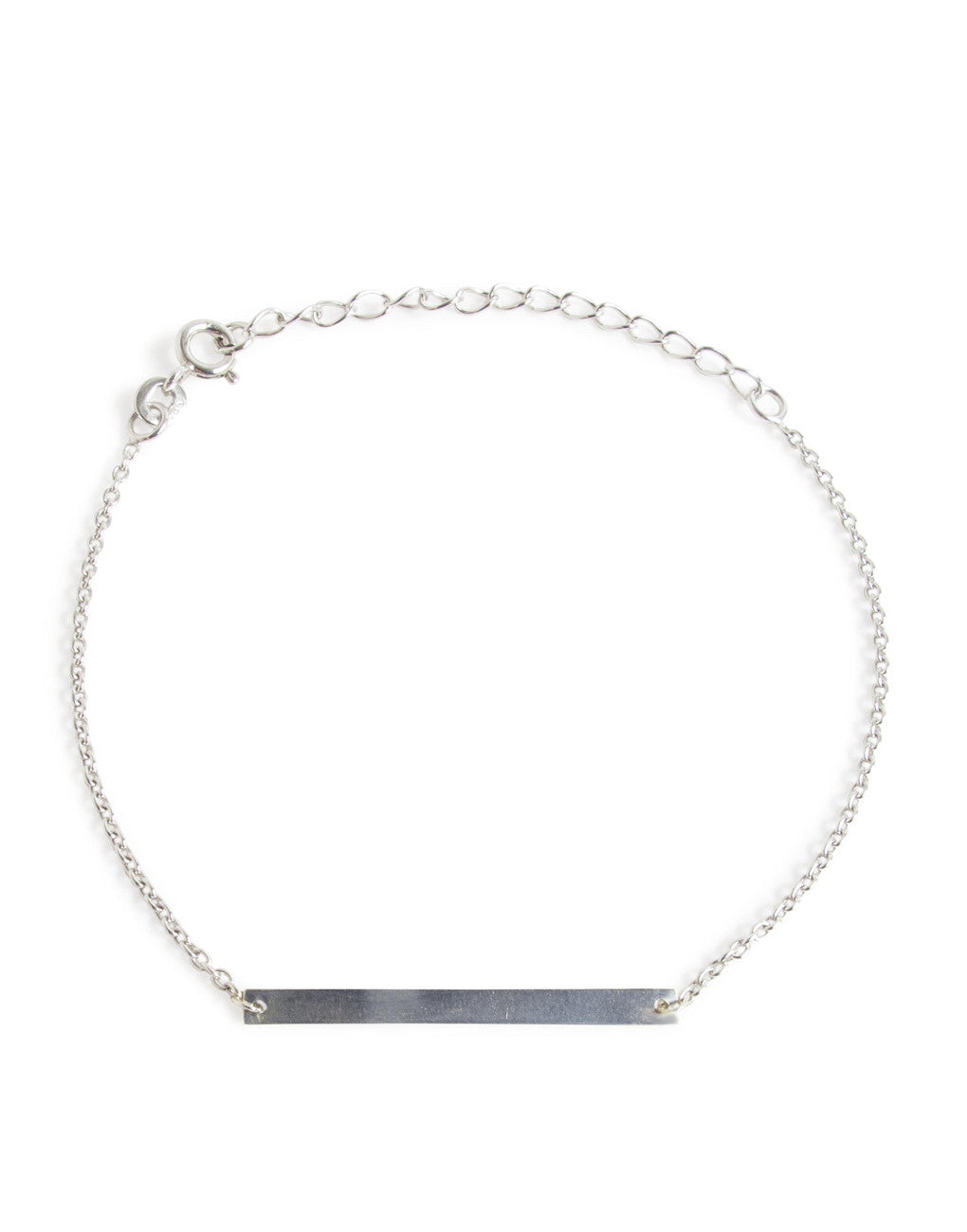 Minimalist Thin Bar Bracelet (Silver) | Benique