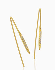 Minimal Threader Earrings (Gold)
