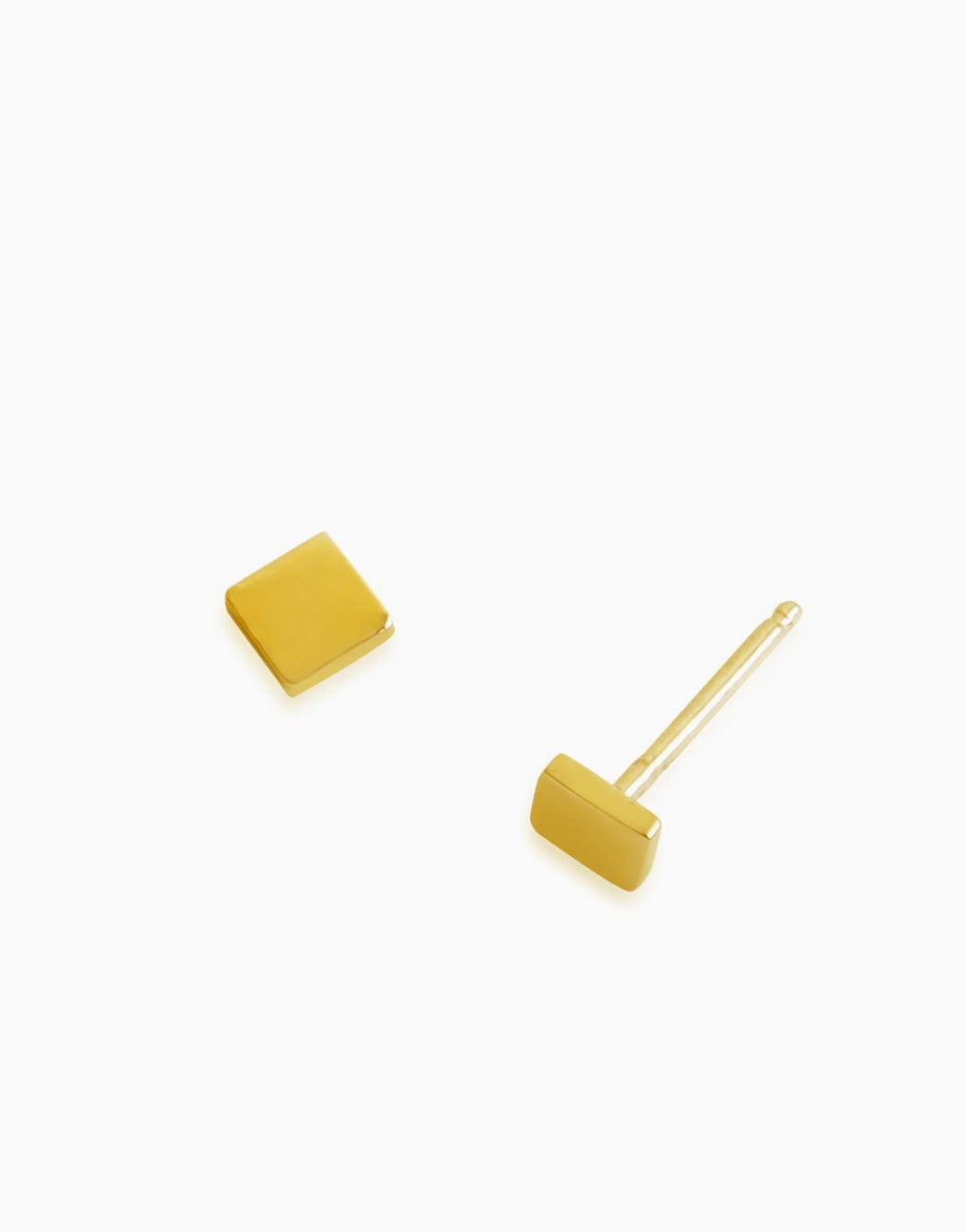 Minimalist Mini Square Stud (Gold) | Benique