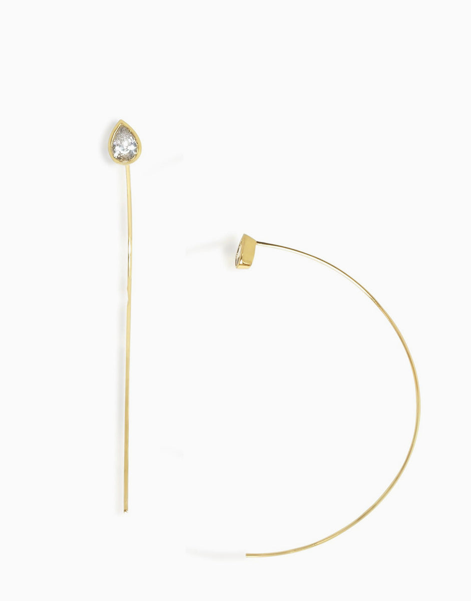 Teardrop Threader Earrings_Benique