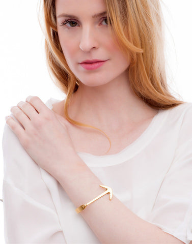 Gold Anchor Cuff_Benique_Model_Benique