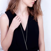 Long Vertical Bar Necklace