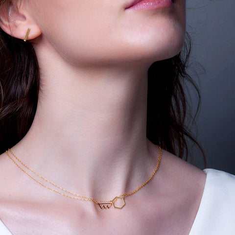 Minimalist Mini Bite Cutout Necklace | Benique