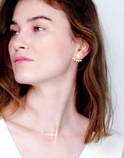 Tara May Ear Jackets (Gold)_Model_Benique