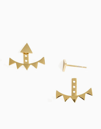 Tara May Ear Jackets (Gold)