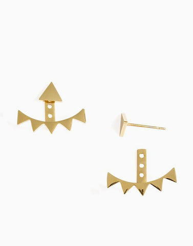 Tara May Ear Jackets (Gold)_Benique