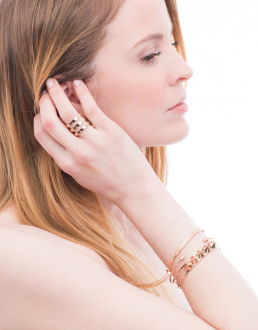 Rhapsody Arrow Point Cuff (Rose Gold)