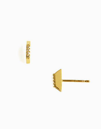 Cara Minimalist Stud Earrings=