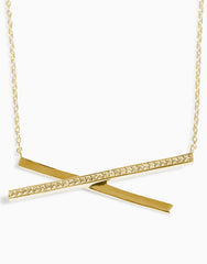 Criss Cross Necklace (Gold)_Benique