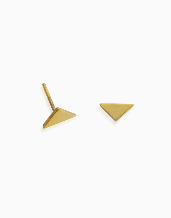 Minimalist Mini Triangle Stud (Gold)
