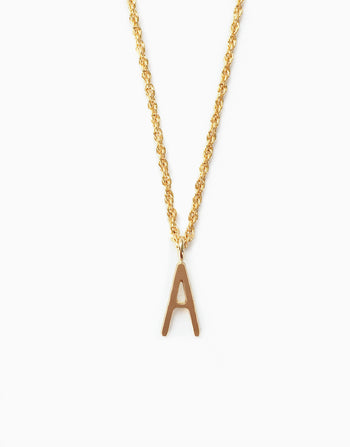 Initial A Pendant Necklace