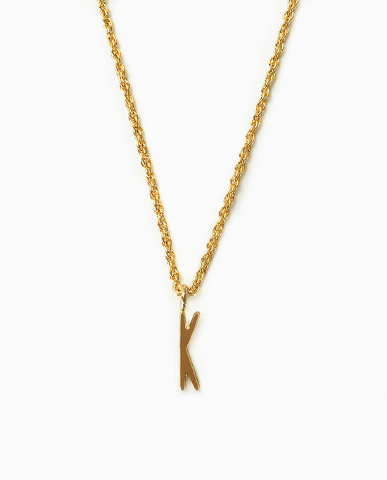 Initial K Pendant Necklace