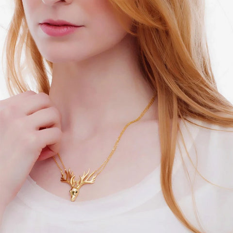 Starlight Stag Necklace_Model_Benique
