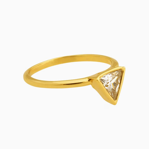 Triangle Crystal Diamond Ring_Benique