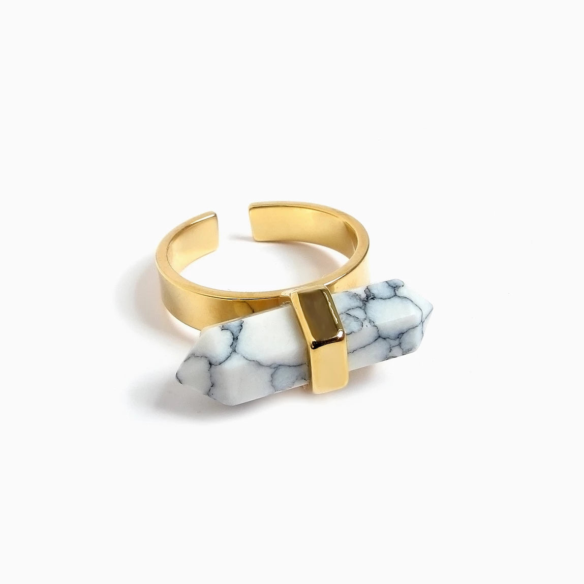 Spear Marble Ring (Gold)_Benique