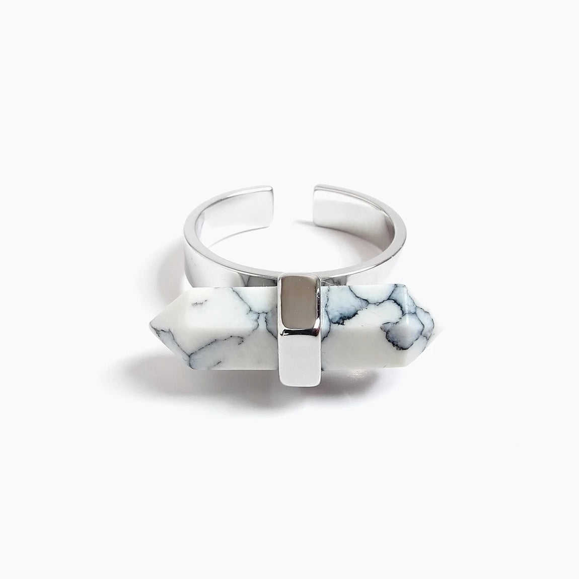 Spear Marble Ring (Silver)_Benique